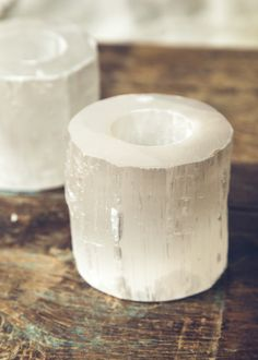 This gorgeous selenite candle holder, comes with one tealight. When the candle is lit this stunning crystal glows in the most dreamy way!