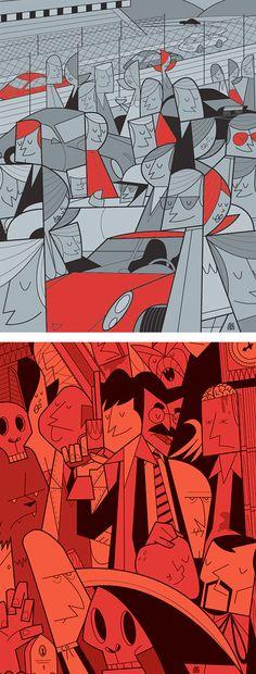 Illustrations by Ale Giorgini | Inspiration Grid | Design Inspiration