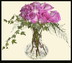 Sparkling Pink Roses pink flowers glitter roses sparkle bouquet graphic