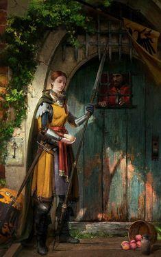 Todo por la patria y la familia Fantasy Concept Art, Fantasy Armor, Medieval Fantasy, Fantasy Illustration, Character Illustration, Fantasy Inspiration, Character Inspiration, Character Portraits, Character Art