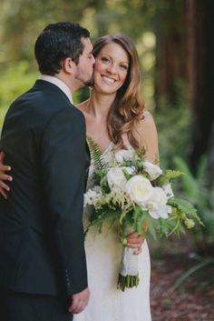 A beautiful woodland wedding. This bride blended traditional wedding style with a rustic and natural look.