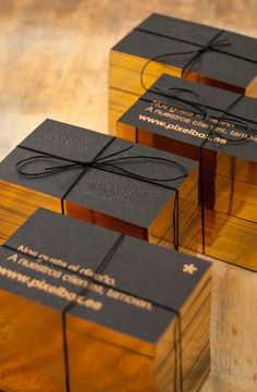 Gold + Black Business Cards