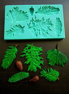 Silicone Mould / Pine branches / Sugarcraft Cake by StaceyDecor