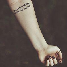 #tattoo #forearmtattoo #quotetattoo #ink #inspiration