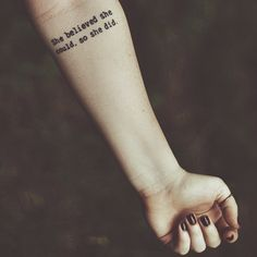 #tattoo #forearmtattoo #quotetattoo #ink #inspiration