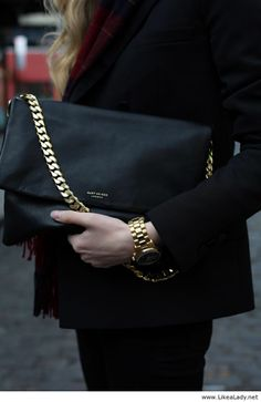 Awesome black clutch