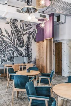 Cafe Interior Design, Cafe Design, Restaurant Concept, Restaurant Design, Brunch Cafe, Kids Room Lighting, Cafe Seating, Café Bar, Restaurants