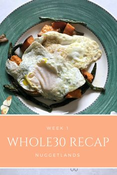 Whole30 Week 1 recap with meal plan. What to expect the first seven days of clean eating with some meal ideas to get you through the 30 days. What food we ate for dinners, breakfast and lunch with links to recipes and resources. What to honestly expect the first few days of the challenge and tips to make it work. #whole30 #mealplan #cleaneating