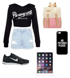 """Geen titel #1"" by iris-reitsma on Polyvore featuring mode, Topshop, NIKE en Casetify"