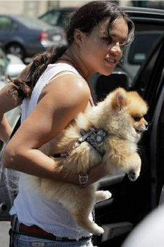 Photo of Michelle Rodriguez & her Dog
