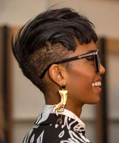 Older Women Hairstyles, Afro Hairstyles, Black Hairstyles, Undercut Hairstyle, Hairstyle Ideas, Hairstyles Pictures, Hairstyles 2016, Unique Hairstyles, Side Undercut
