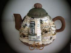 Купить Чайник текстильный VINTAGE - хаки, винтажный, шкатулка, подарок на день рождения, подарок подруге
