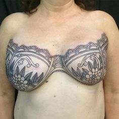 """Some breast cancer survivors are refusing to let cancer leave the """"last mark"""" on their bodies. For women who have lost their breasts when a mastectomy was the only treatment option, inspirational mastectomy tattoos have turned tragedy into breathtaki Scar Tattoo, Cover Tattoo, Body Art Tattoos, Girl Tattoos, Tatoos, Tattoos To Cover Scars, Tattoo Female, Tattoo Art, Sleeve Tattoos"""
