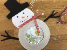 Lavoretto natalizio - Pupazzo con sfera di neve