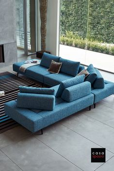 The Felix is a re-configurable modular sectional sofa that features removable backs, arms and an optional table that can be placed in between cushions. - My Website 2020 Luxury Home Furniture, Furniture Showroom, Furniture Layout, Furniture Design, Antique Furniture, Modern Furniture, Outdoor Furniture, Rustic Furniture, Furniture Buyers