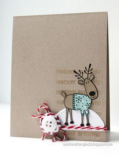 Hero Arts reindeer and Neat and Tangled greeting Xmas Cards, Holiday Cards, Handmade Christmas, Christmas Crafts, Christmas Tables, Reindeer Christmas, Nordic Christmas, Modern Christmas, Kids Crafts