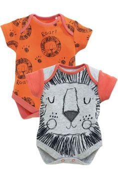 Buy Two Pack Orange Lion Short Sleeve Bodysuits (0-2yrs) online today at Next: United States of America