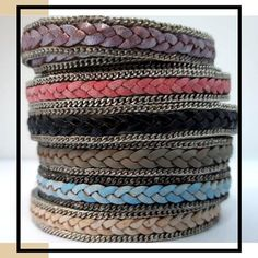 Round braided leather cords is to combine them with our suede cords and silk ribbons. Use your creativity and choose the round braided leather cord that complements your designs.