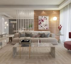 Best Living Room Design Inspirations By The Top London-Based Designers Living Room Partition, Living Room Wall Units, Room Partition Designs, Home Living Room, Living Room Decor, Best Living Room Design, Home Room Design, Home Design Plans, Home Interior Design