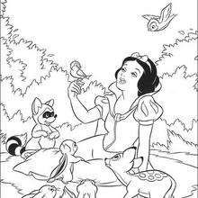 snow white and the seven dwarfs coloring pages 21 free disney printables for kids to - Free Disney Books Online