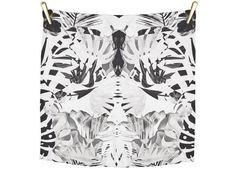 Kleine sjaal / bandana in 100% zijde in grijs, zwart en wit van Bella Ballou :: Le Goût des Couleurs producten - Webshop