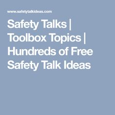 21 Best safety talk images in 2017   Safety talk, Workplace