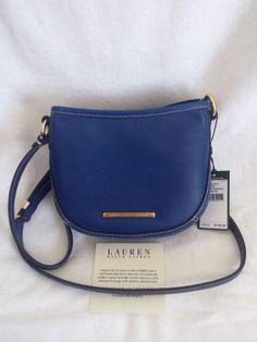 68848cdb26 NWT LAUREN Ralph Lauren Thurlow Mini Crossbody HRTG Royal Bag Purse Handbag  Ralph Lauren