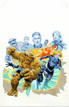 """Fantastic Four variant covers by Jay Anacleto, Greg Land, Lucio Parillo, Greg Horn, Mike Mayhew and Clayton Crain * "" Comic Book Characters, Comic Books Art, Comic Art, Comic Character, Book Art, Fantastic Four Marvel, Mister Fantastic, Marvel Dc Comics, Marvel Heroes"