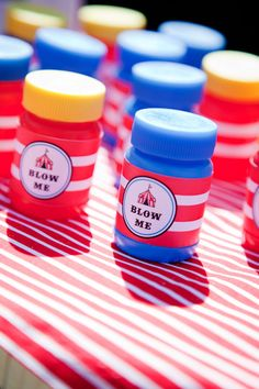 Big Top Circus Party Themed Bubble Labels by JoStudioPartyPaperie, $7.00