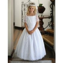 Gorgeous Satin First Communion Dress with lace overlay and flutter sleeves. Looking for Shops that Sell First Communion Dresses ? Shop Our Online Communion Boutique for the Latest First Communion Dresses and Veils for Sale Size 14 Dresses, Satin Dresses, Dresses For Sale, Lace Dress, White Dress, Girls First Communion Dresses, Holy Communion Dresses, Our Girl, Lace Overlay