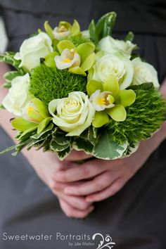 Shades of Fresh Green Bouquet By #PetahBashano