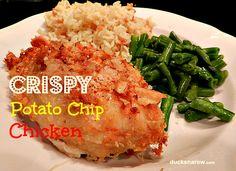 Crispy Potato Chip Chicken Recipe #chicken #easydinners Ducks 'n a Row