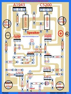 transistor circuit diagram of and - Electronics Help Care Electronics Projects, Arduino Projects, Simple Electronics, Hifi Amplifier, Class D Amplifier, Loudspeaker, Amplificador 12v, Placa Pcb, Electronic Circuit Design