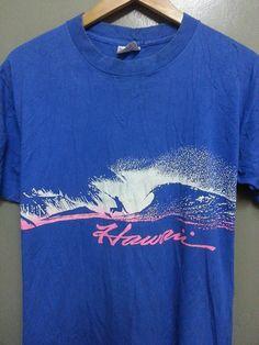 Vintage 80's Hawaii Surf Skate Tee jays Hawaii by SuzzaneVintage, $32.00
