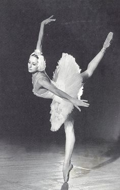"Natalia Bessmertnova as Odette in ""Swan Lake"""