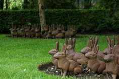 Metal rabbits garden art by KarlGercens.com, via Flickr