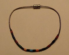 Sterling Silver Zuni Style Beaded Bracelet by onetime on Etsy, $4.25