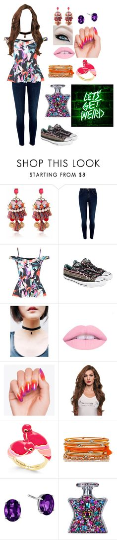 """""""Untitled #272"""" by lil1daffodil2baby3girl4 ❤ liked on Polyvore featuring River Island, Jane Norman, Converse, Kate Spade and Bond No. 9"""