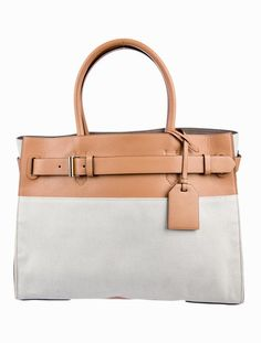ec46bd441f8a Reed Krakoff Large Rk40 Grey Leather Trimmed Canvas Tote - Tradesy Reed  Krakoff, Grey Leather