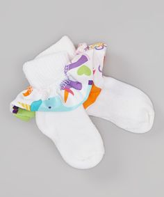 Look at this White Unicorn Ruffle Socks on #zulily today!