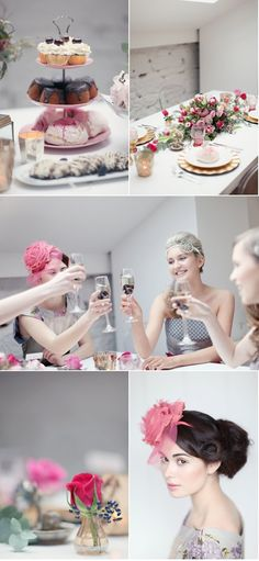 """Tea Party bridal shower - a """"tea party"""" theme would be so fun! And everyone knows how much I love exaggerated headbands & hats! @Clare Kohler"""