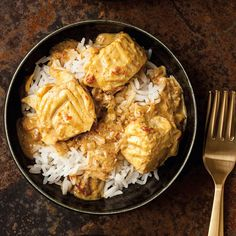 This enchanting slow cooker fish curry boasts a vivid yellow color and bright flavors from a medley of spices. Serve this dish over hot cooked basmati rice.