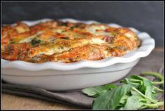 Caprese Salmon Quiche. Healthy and delicious!