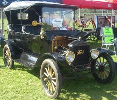 This 1916 Model T still had some brass fixtures but not as much as earlier models. Year after year, manufacturing methods improved and the car shed it's brass frills. The price went lower and lower -- to under $300.