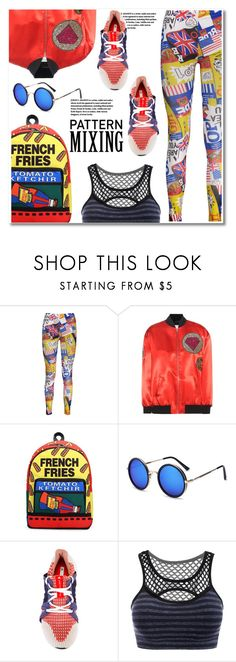 """""""Stay Bold: Pattern Mixing"""" by paculi ❤ liked on Polyvore featuring Yves Saint Laurent, adidas, StreetStyle, Summer, casual and whitejeans"""
