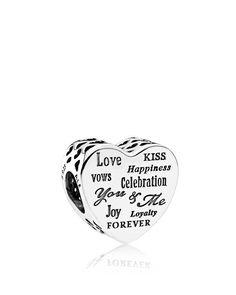 Pandora Charm - Sterling Silver Celebration Heart