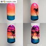 Summer Palm Tree Nails Art Tutorials 30 Ideas For 2019 - Tree - Unhas Sunset Nails, Beach Nails, Palm Nails, Palm Tree Nail Art, Vacation Nails, Diy Nail Designs, Nail Tutorials, White Nails, Nail Arts