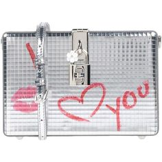 Dolce & Gabbana Handbag ($1,700) ❤ liked on Polyvore featuring bags, handbags, silver, miniature handbags, mini bag, studded bag, flower bag and studded handbags