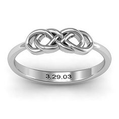 Infinity Knot Ring - wedding band option since I don't want to wear the diamond all the time.