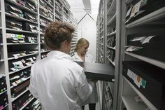 Digitization technicians used the visual system to identify containers ready for imaging.